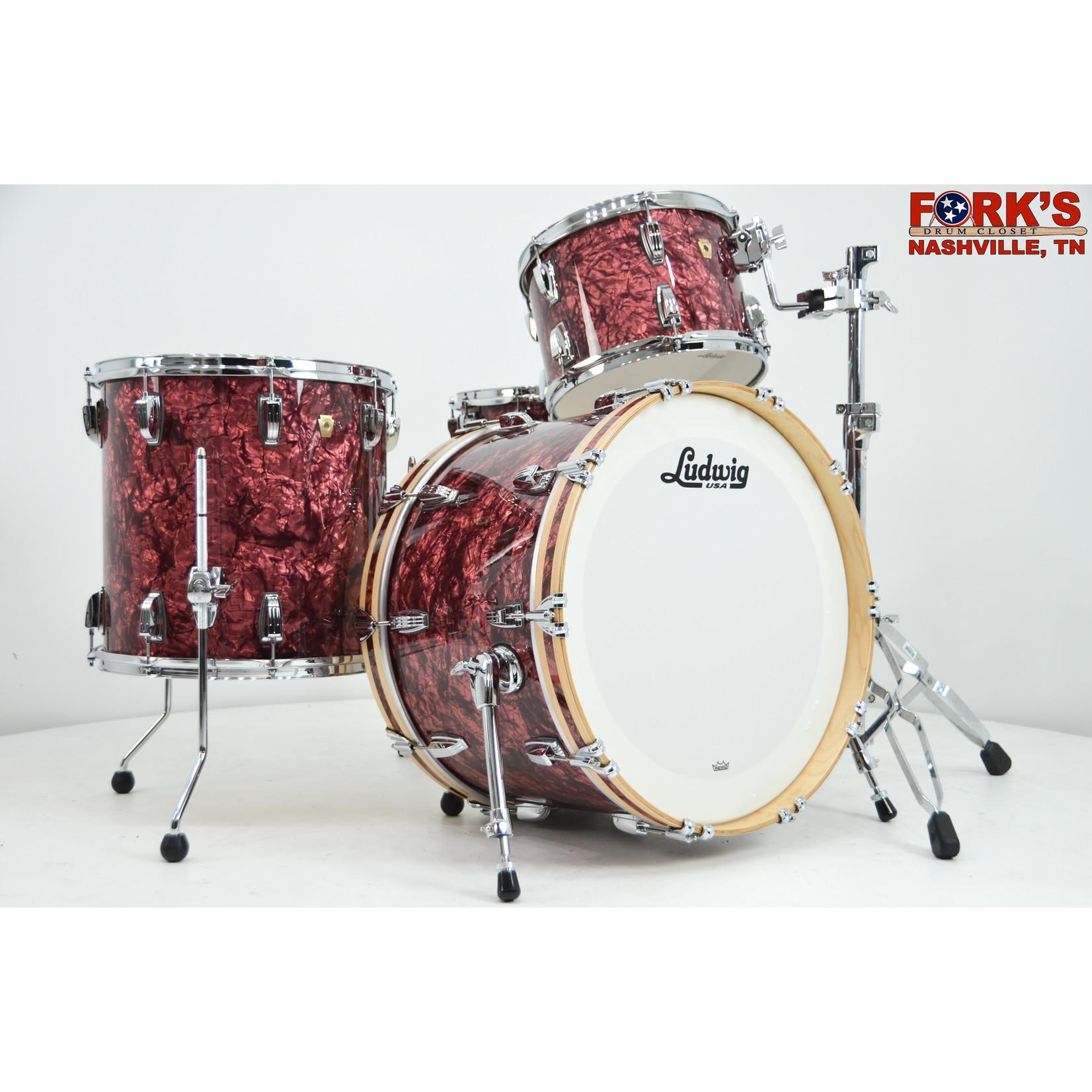 "Ludwig Ludwig Classic Maple 4pc Drum Kit - ""Burgundy Pearl"""
