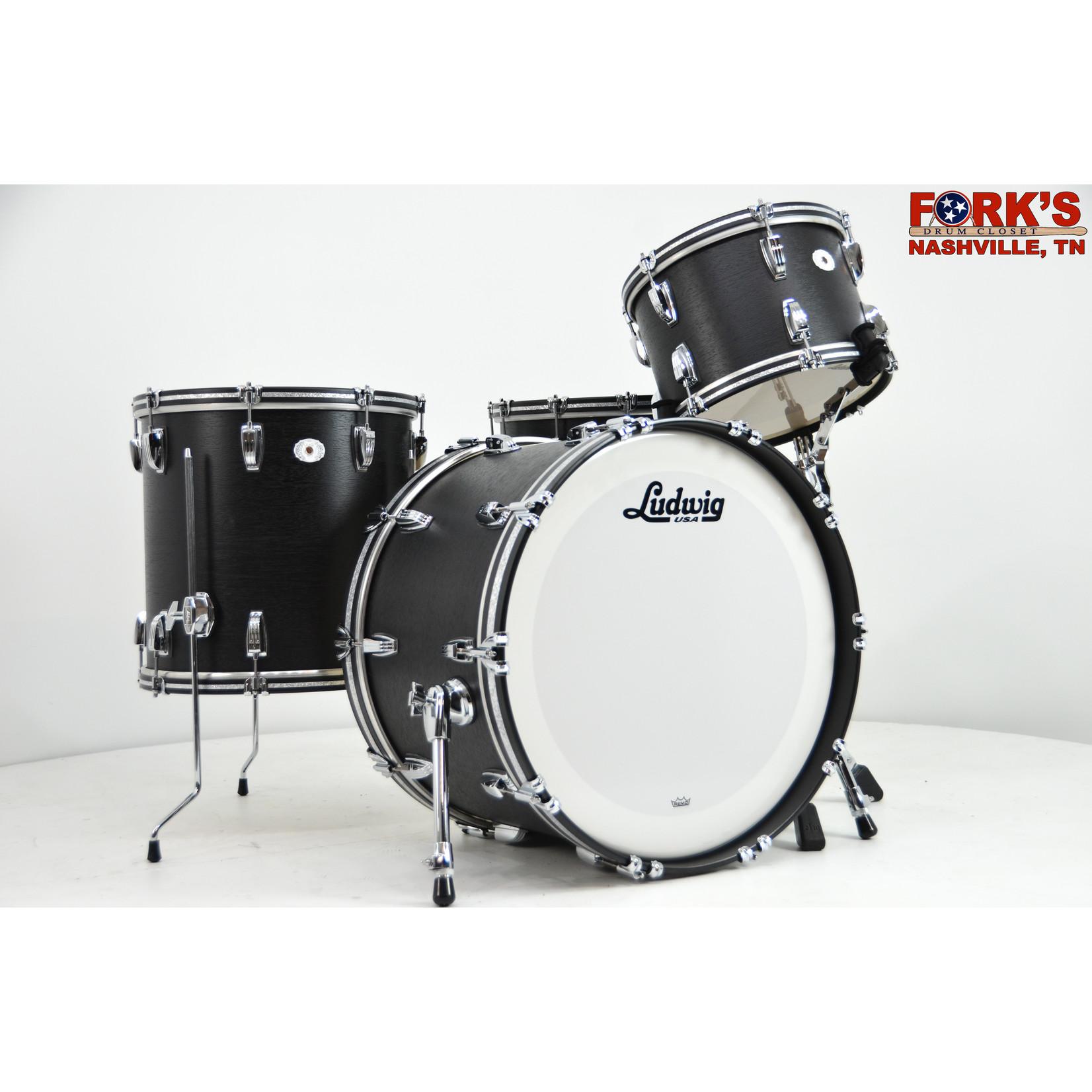 "Ludwig Ludwig Legacy Mahogany ""Black Cat"" 3pc Drum kit"