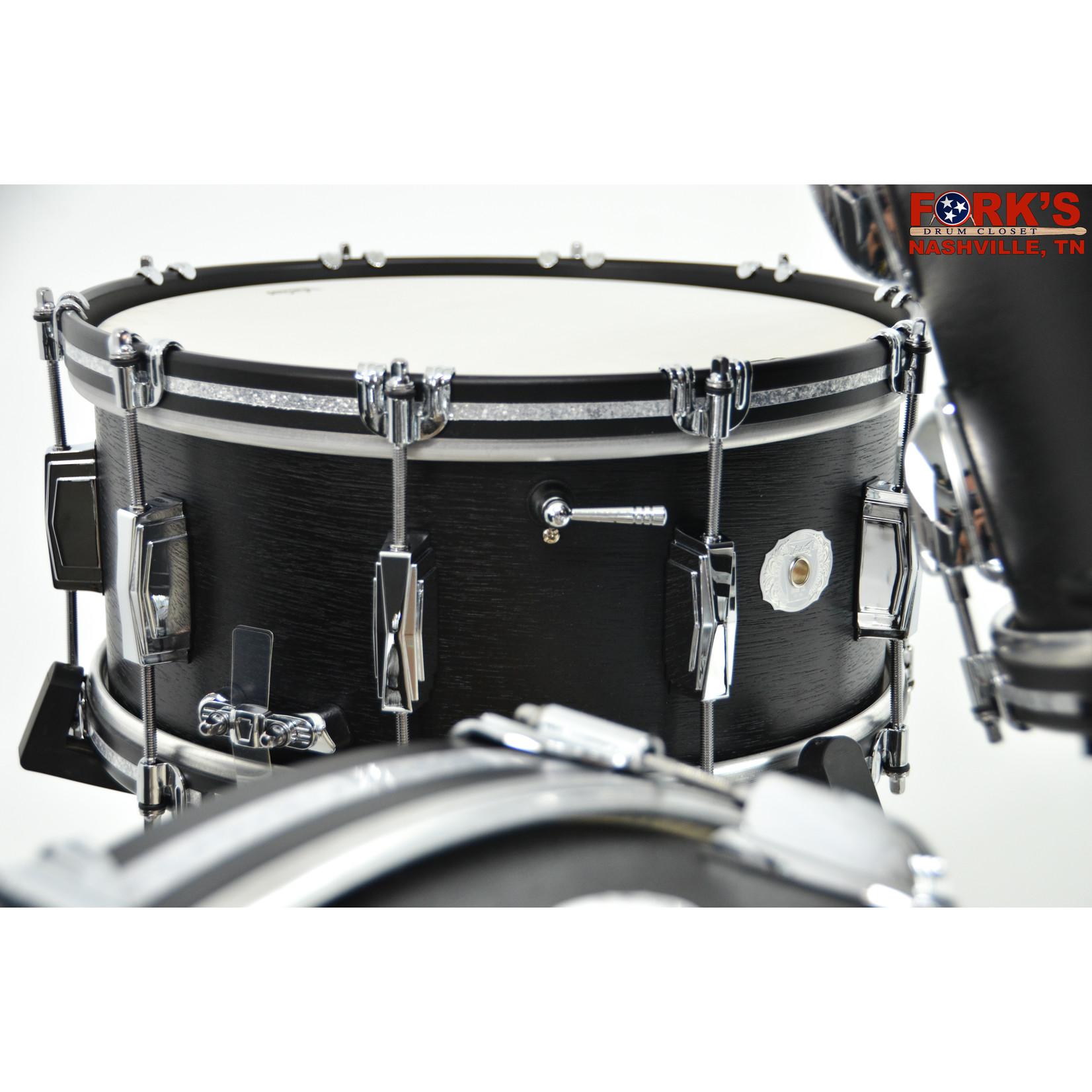 "Ludwig Ludwig Legacy Mahogany "" Black Cat"" 6.5x14 Snare Drum"