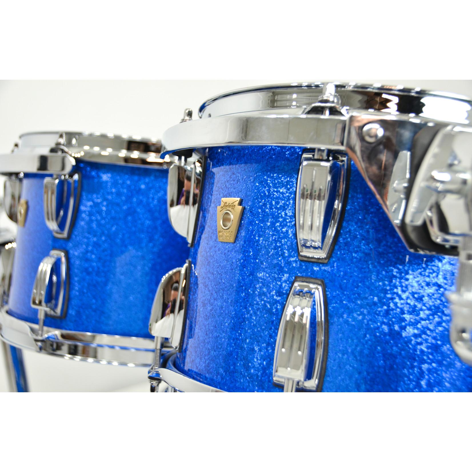 "Ludwig Ludwig Classic Maple 4pc Drum kit - ""Blue Sparkle"""