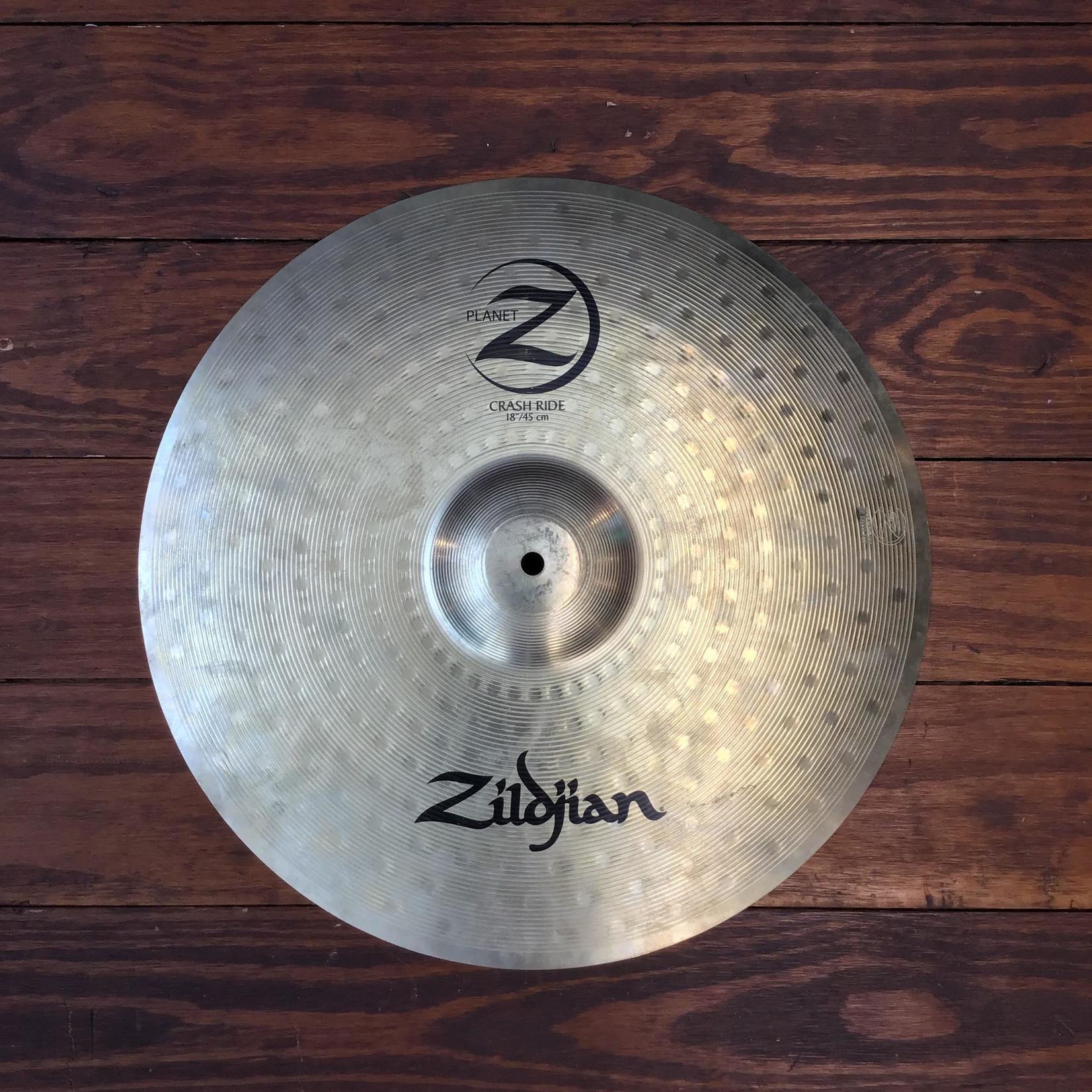 """Zildjian USED Zildjian Planet Z 18"""" Crash Ride Cymbal"""