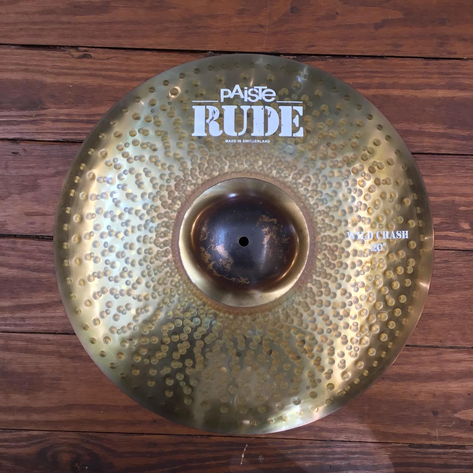 "Paiste USED Paiste RUDE 20"" Wild Crash Cymbal (Discontinued)"