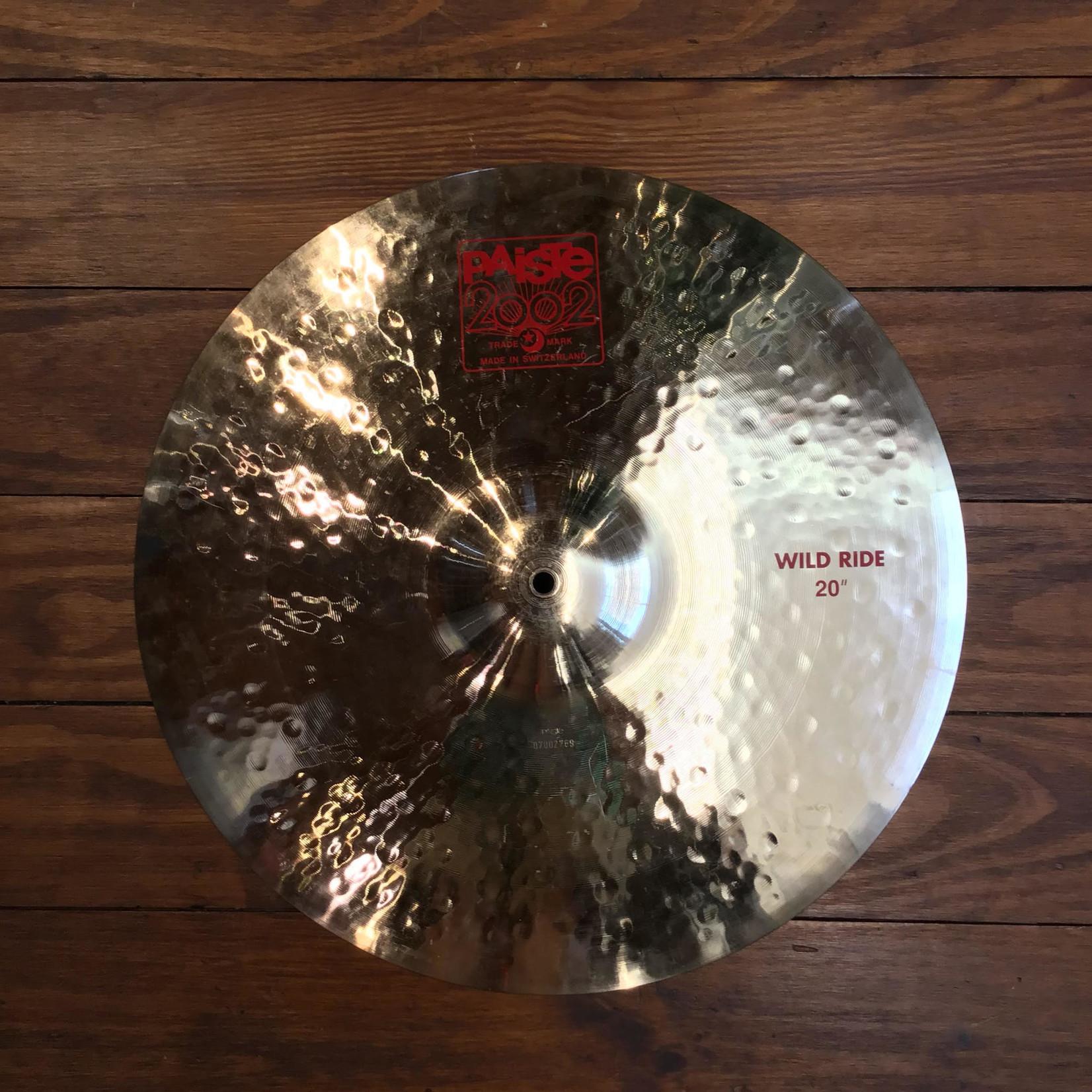 "Paiste USED Paiste 2002 20"" Wild Ride Cymbal (Discontinued)"