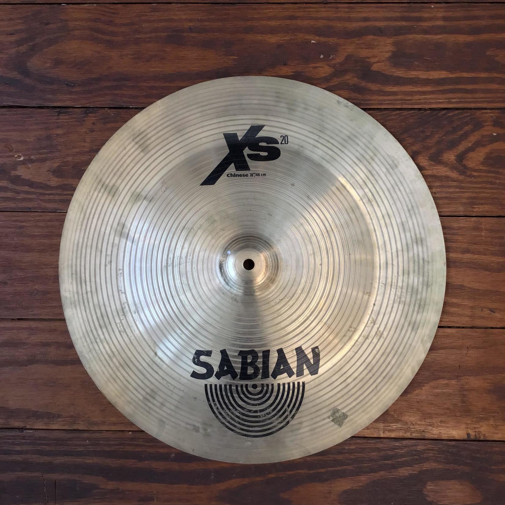 "Sabian USED Sabian XS20 18"" Chinese Cymbal"