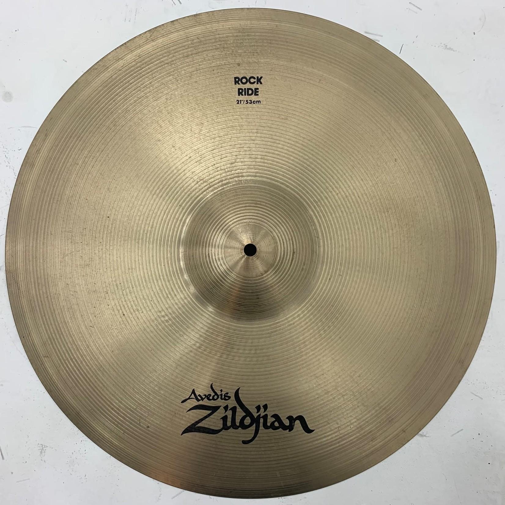 """Zildjian USED Zildjian A 21"""" Rock Ride Cymbal (Michael Wagener Collection)"""