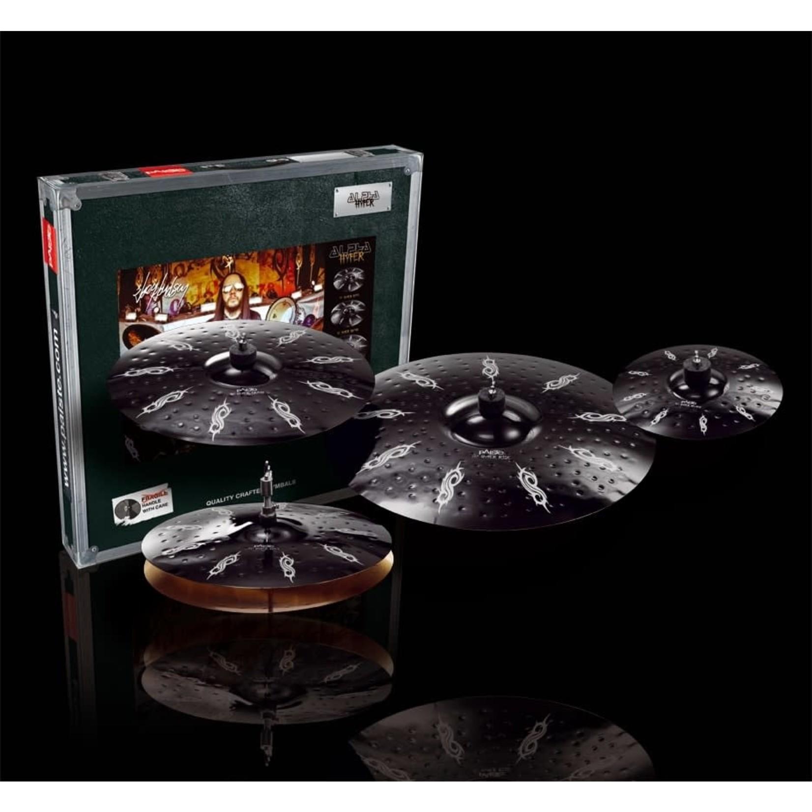 "Paiste Paiste Joey Jordison Black Alpha Hyper Cymbal Set - 14""/16""/20"" - With Free 10"" Splash Cymbal"