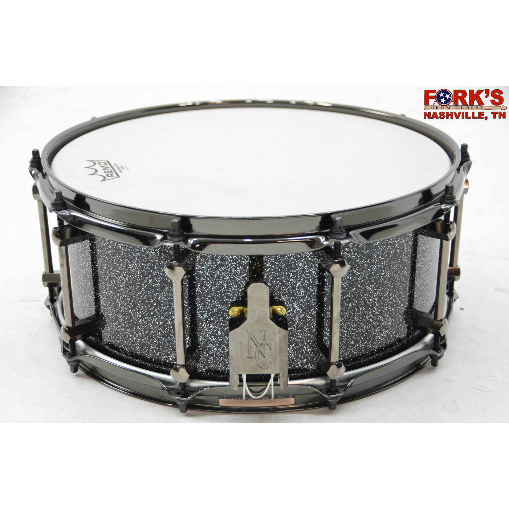 """Noble and Cooley Noble & Cooley Copper Classic 6x14 Snare Drum """"Black Sparkle"""""""