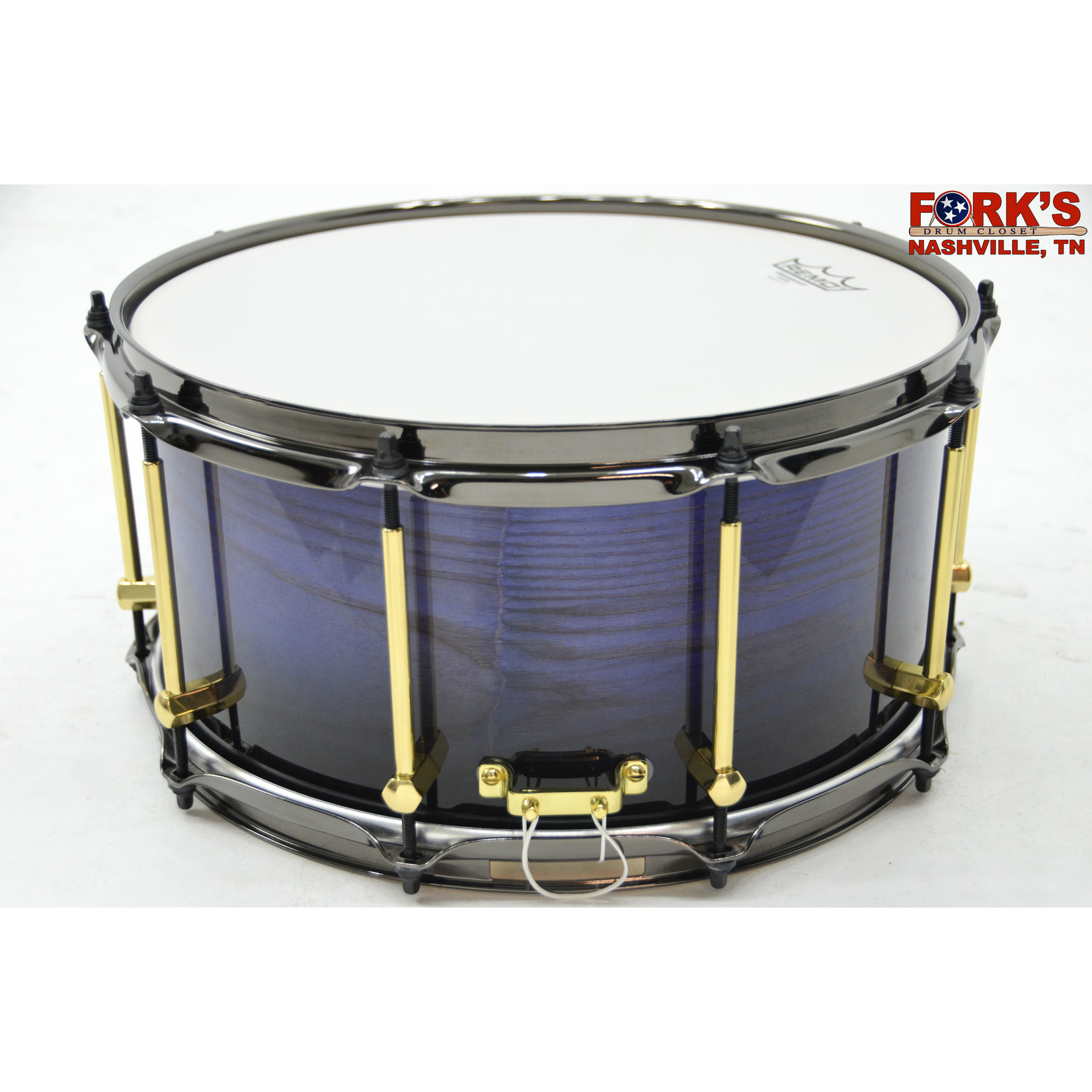 """Noble and Cooley Noble & Cooley Solid Shell Classic 7x14 Ash Snare Drum """"Purple-To-Black Fade"""""""