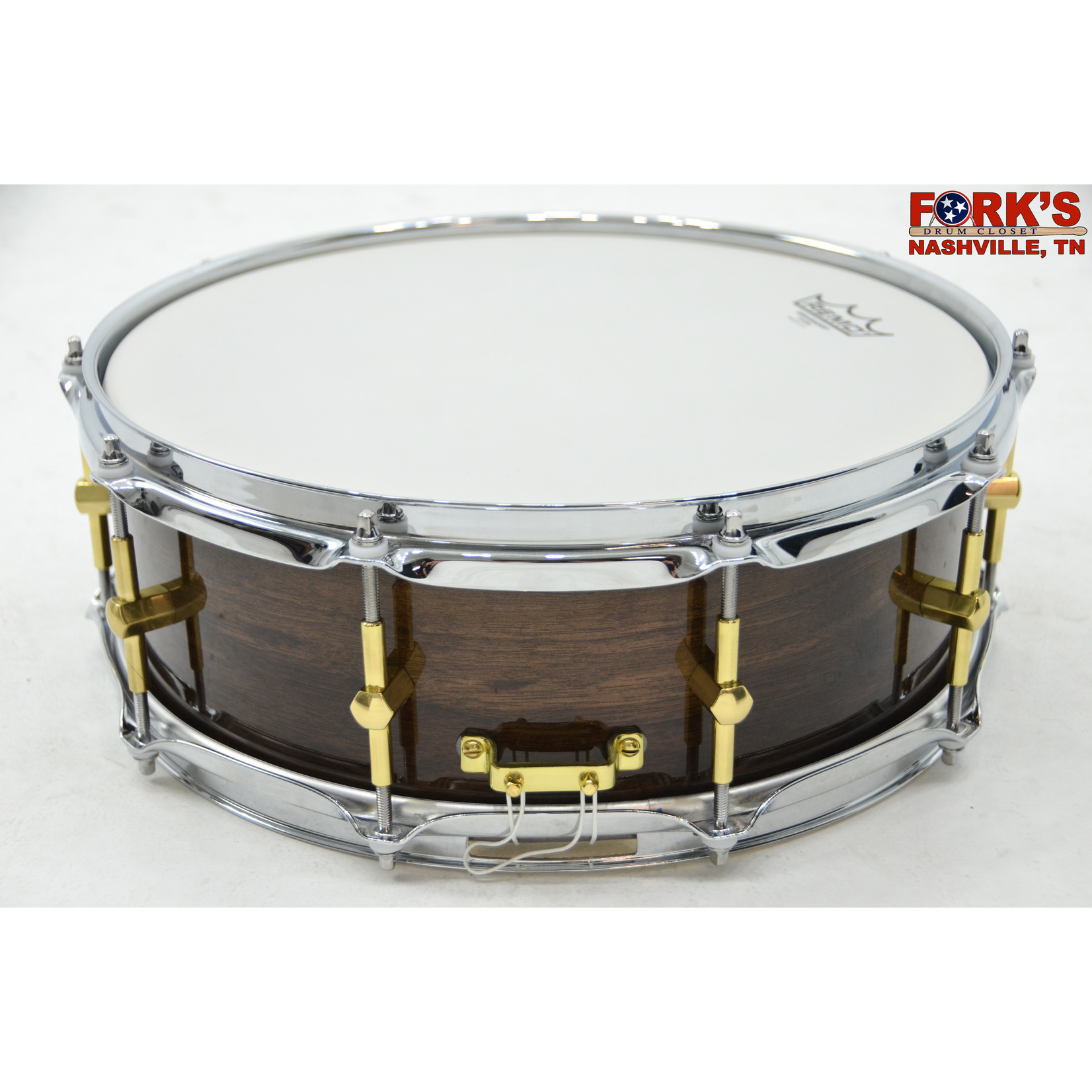 """Noble and Cooley Noble & Cooley Solid Shell Classic 5x14 Walnut Snare Drum """"Espresso Gloss"""""""