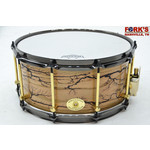 """Noble and Cooley Noble & Cooley Solid Shell 7x14 Oak """"Fractal"""" Snare Drum"""