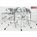 """Pearl Used Pearl Crystal Beat 8pc Drum Set - """"Clear"""""""