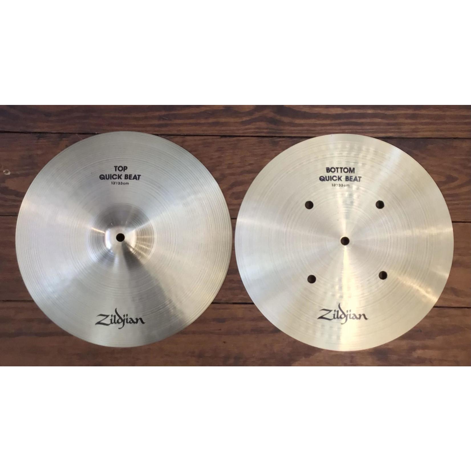 """Zildjian USED Zildjian A 13"""" Quick Beat Hi-Hat Cymbals (Pair)"""
