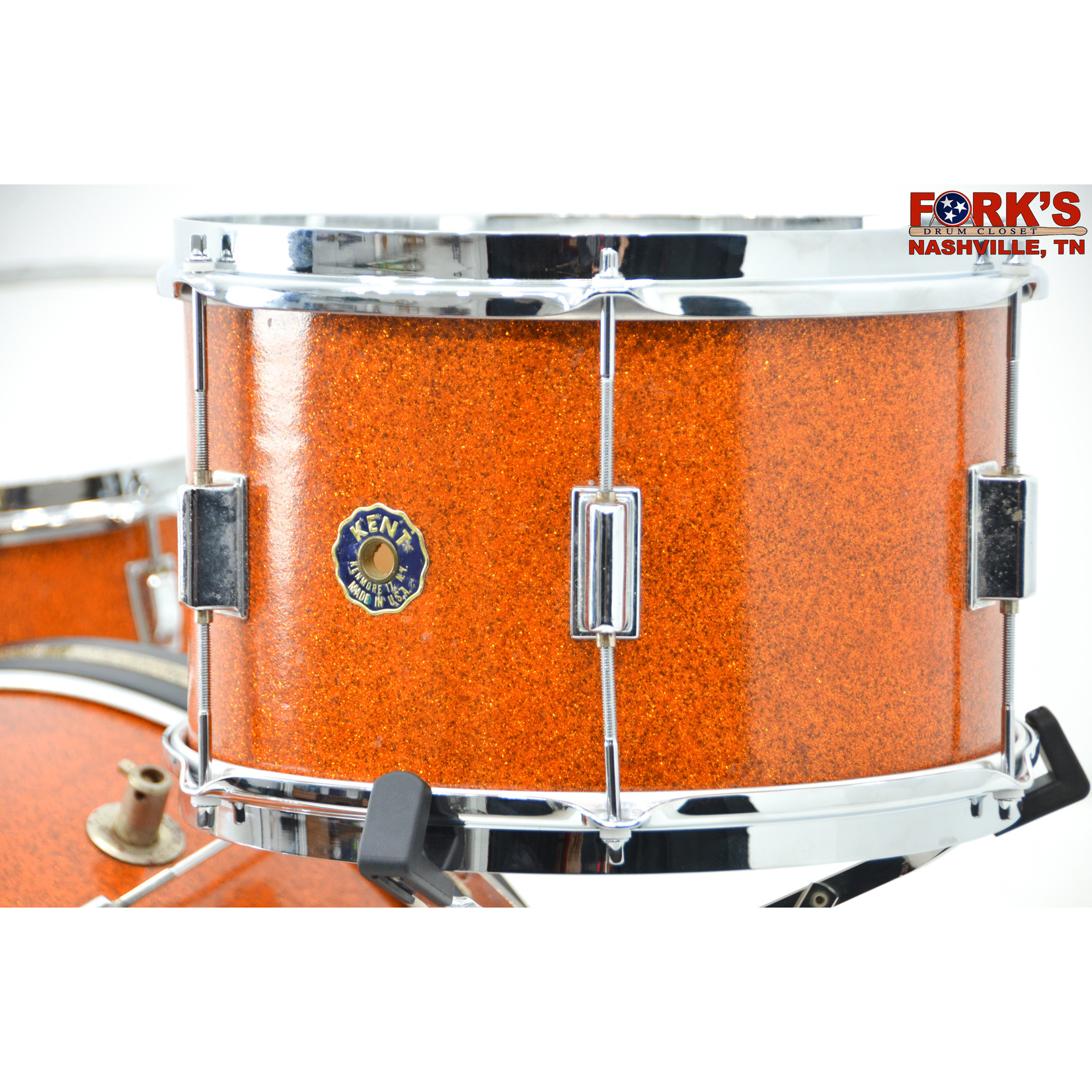 "Kent Used 1960's Kent 3pc Drum Set - ""Gold Sparkle"""