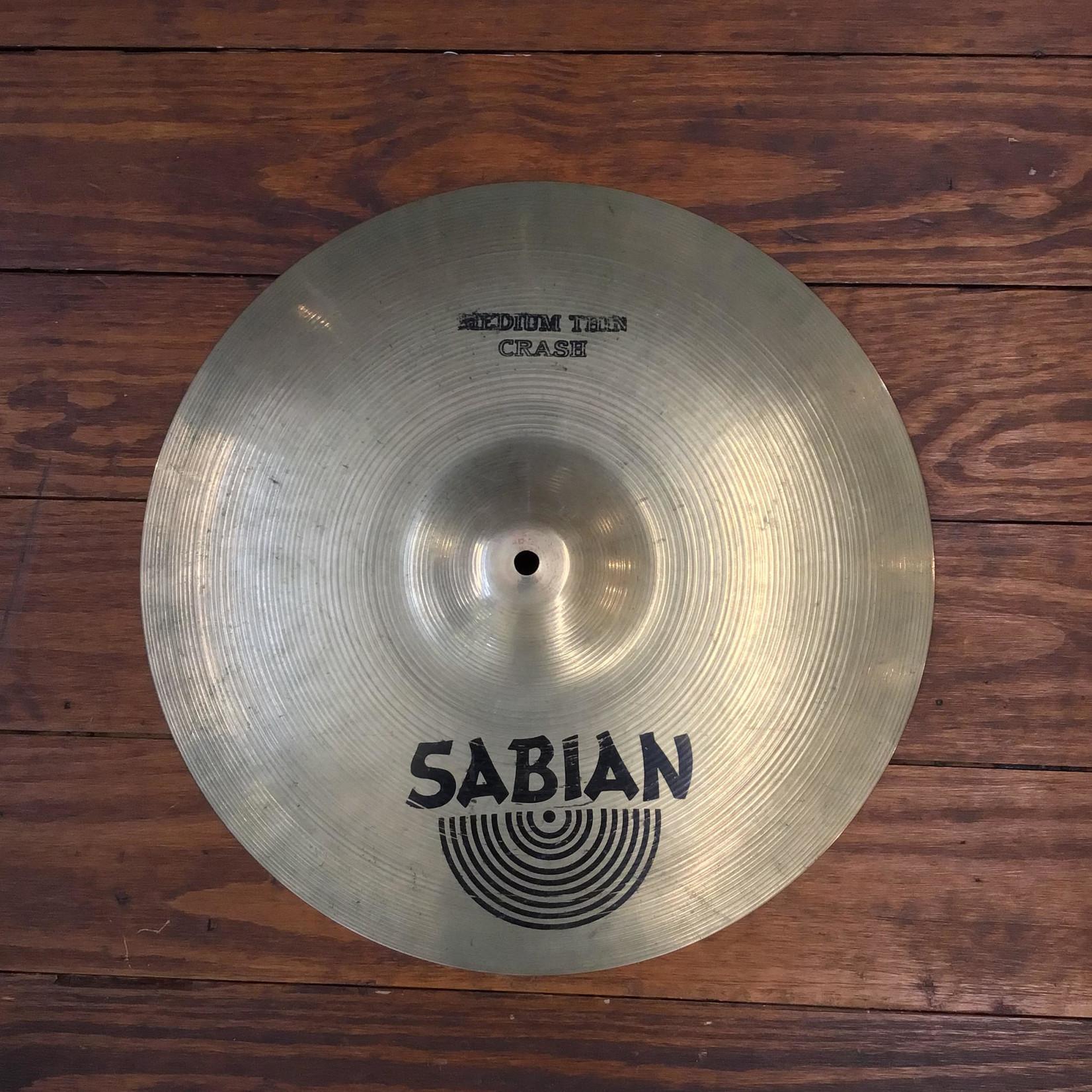 """Sabian USED Sabian AA 17"""" Medium Thin Crash Cymbal"""