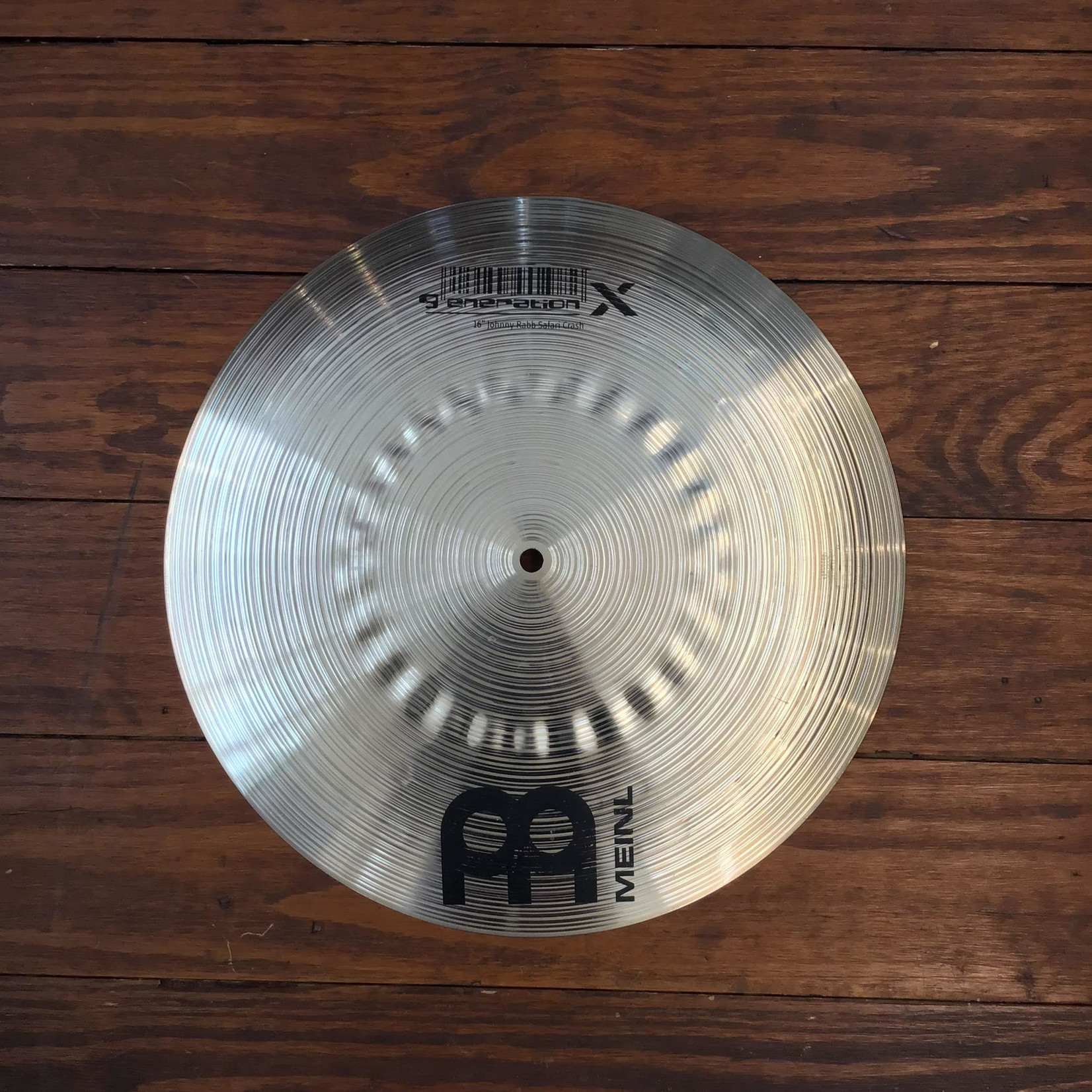 "Meinl USED Meinl Generation X 16"" Johnny Rabb Safari Crash Cymbal (Discontinued)"