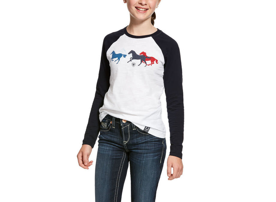 10028017 Running horse girls L/S