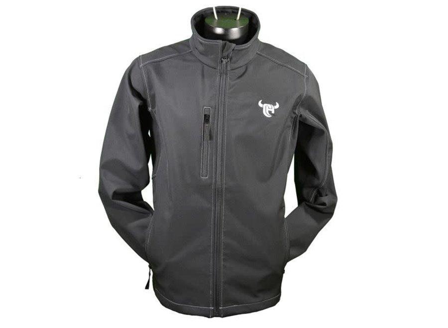 192099-010- Black Poly shell logo jacket