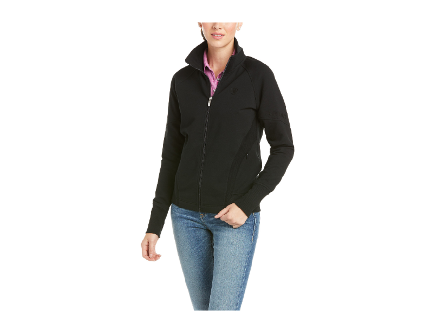 10034836 Largo Black Full Zip sweater