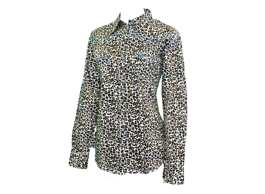 225466-021 Mini Leopard Snap Western Shirt
