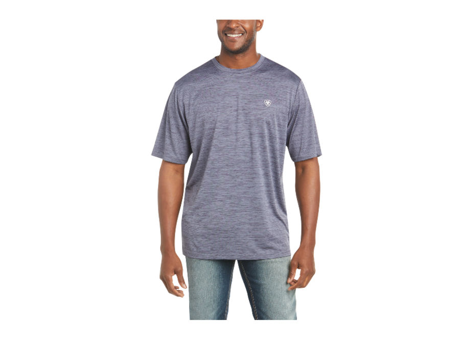 10035177 Charger Flag S/S tee graystone