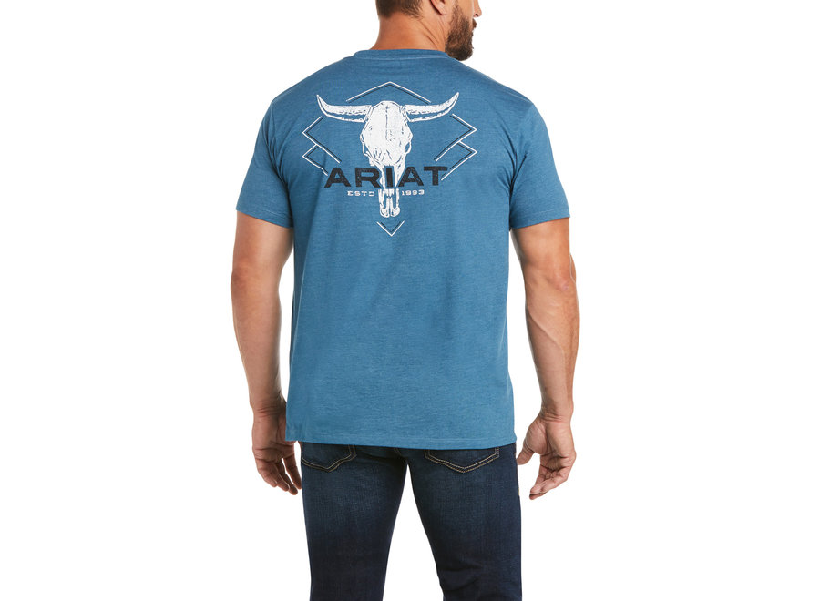 10035643 Ariat Diamond Steer Skull Short sleeve