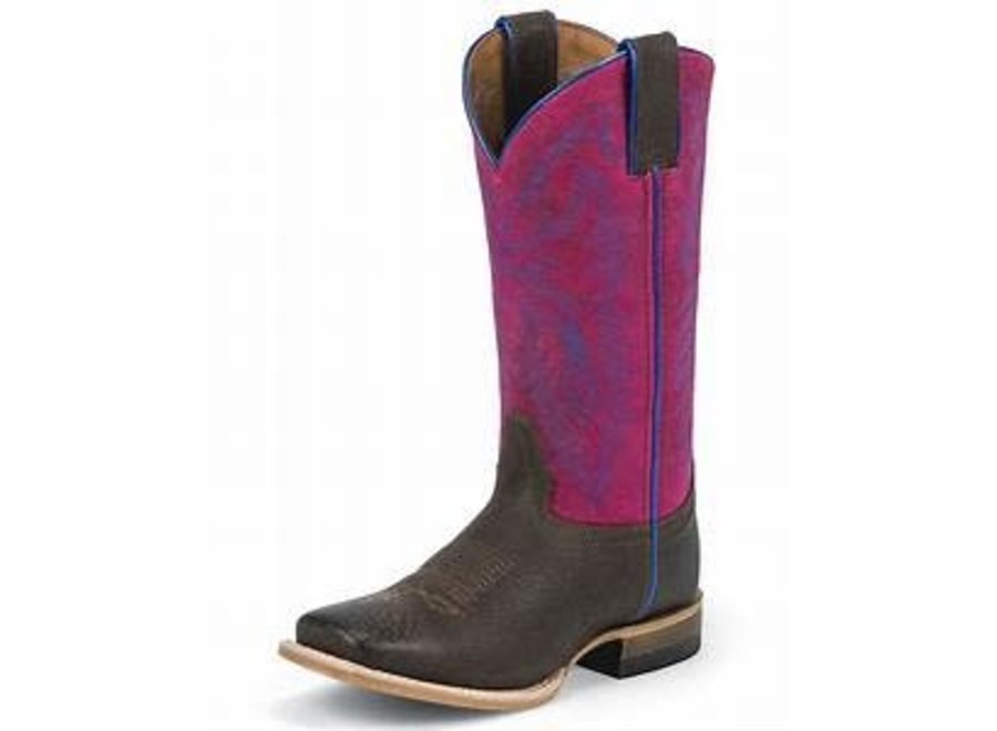 342JR Justin boots kids pink Flamingo