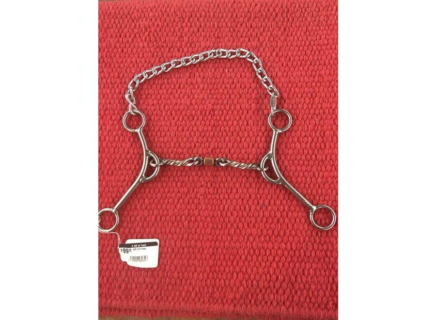 #20 LS mikey- twist w/copper inlay dogbone roller