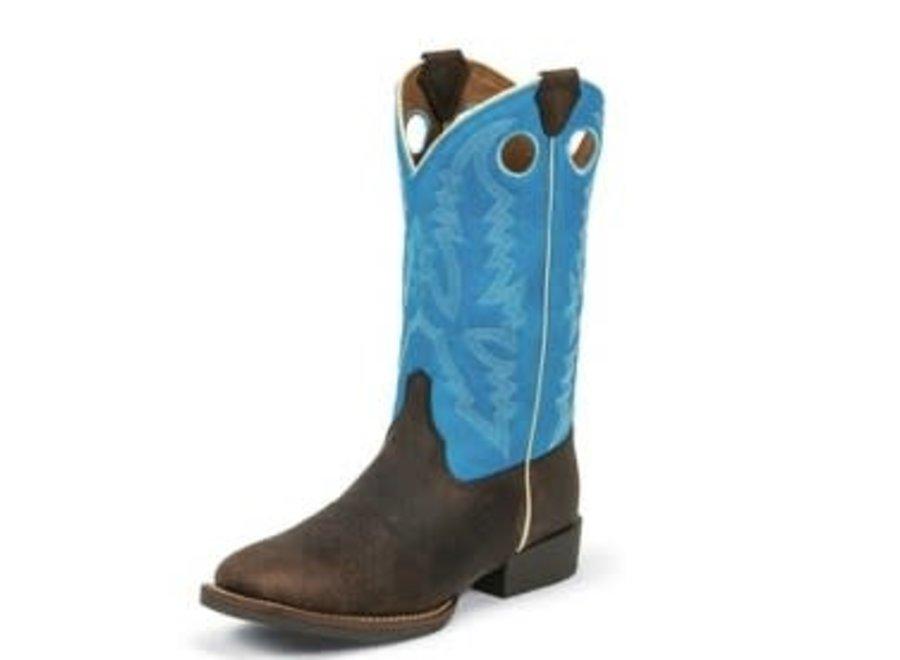377JR Choc Brown Buffalo Blue Top