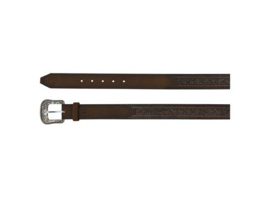 2080BE3 Floral Tooling Brown Belt