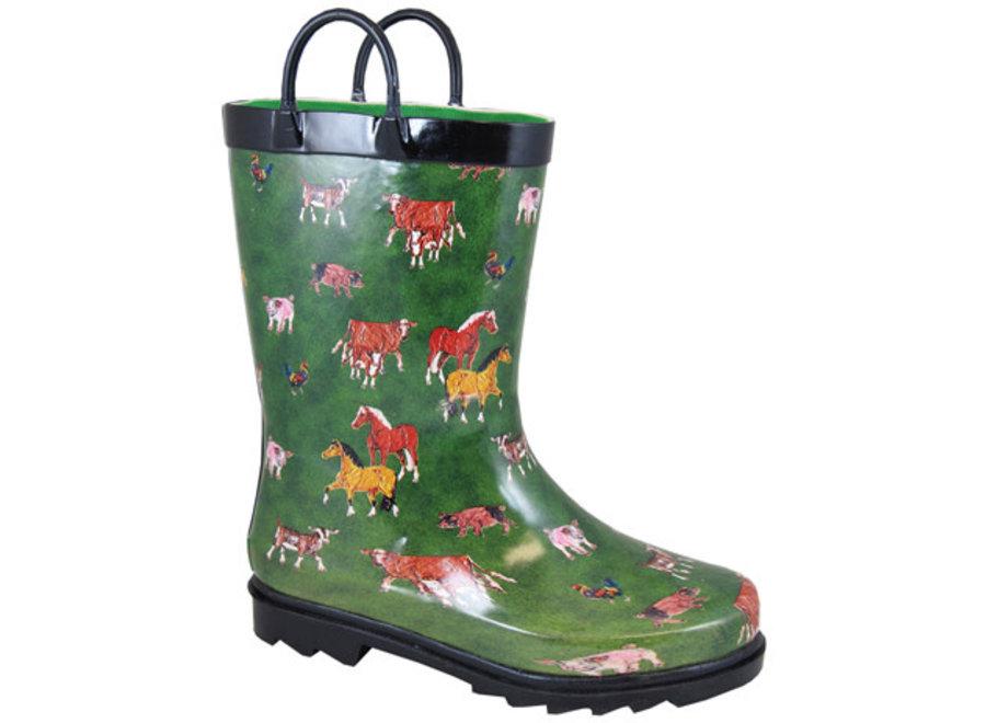 2769-Round Up Green Rain Boot(1/21)