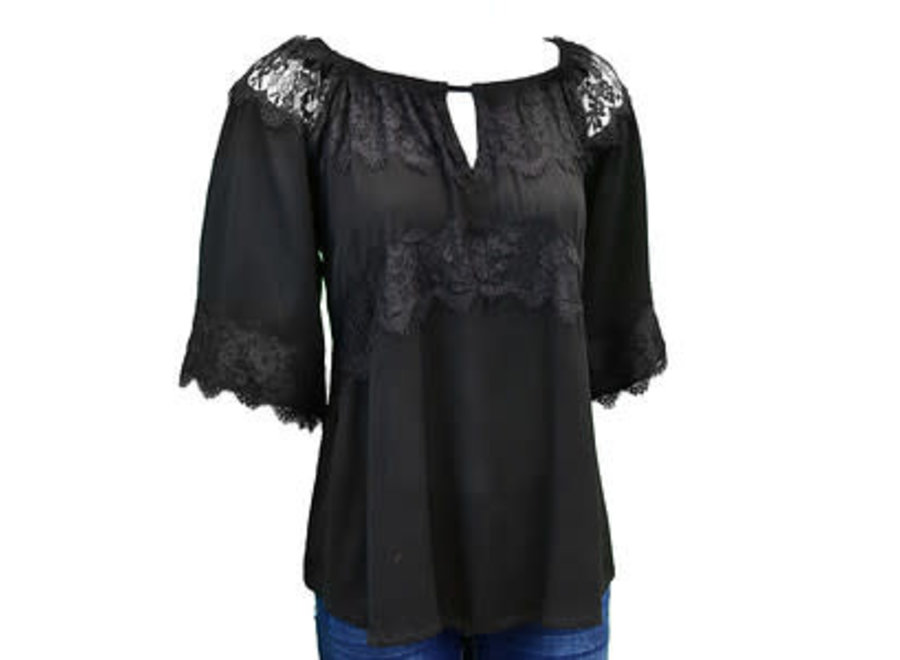 255057-010 BLACK LACE BLOUSE