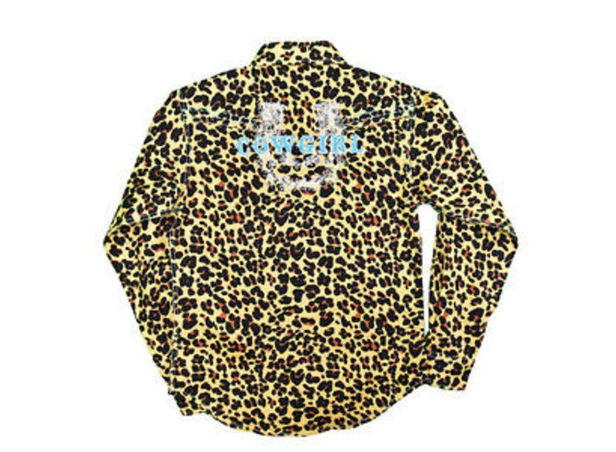 425447-652 Leopard Mustard L/S print