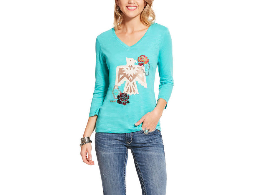 10028717 Diablo 3/4 t-shirt turq falls
