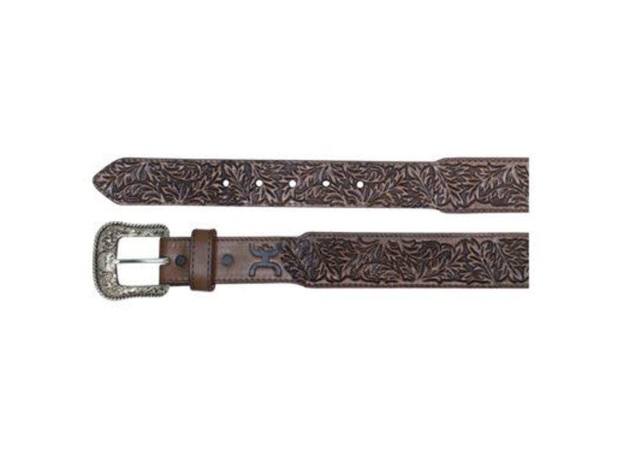 1873BE9 Hooey Belt tooled Tobacco