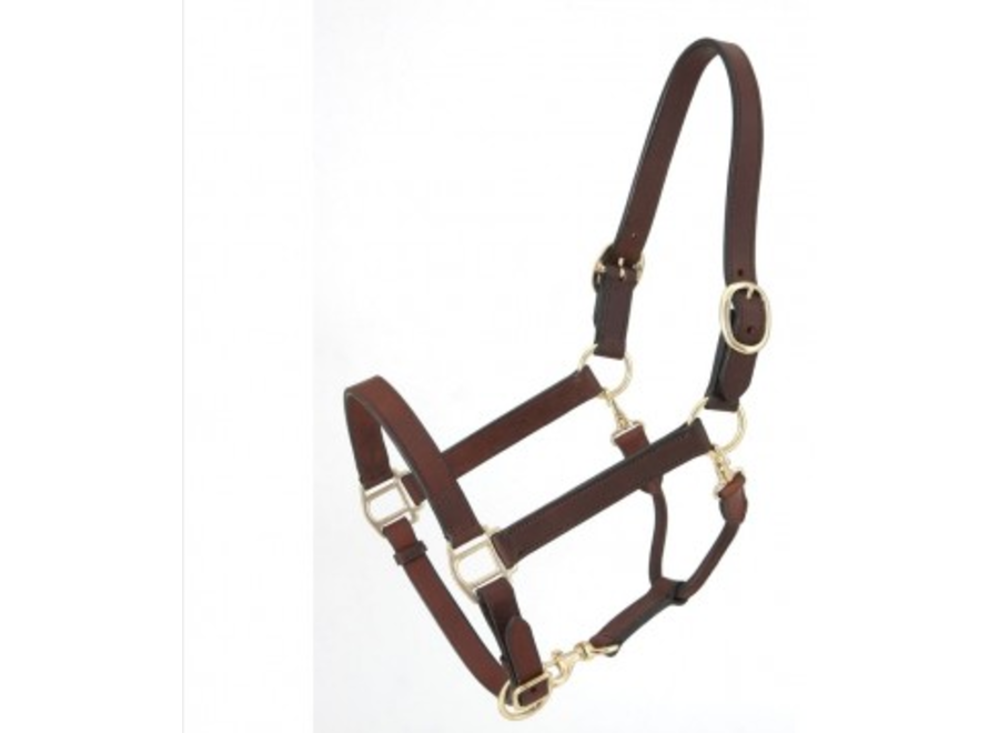 44-900 horse brown leather halter