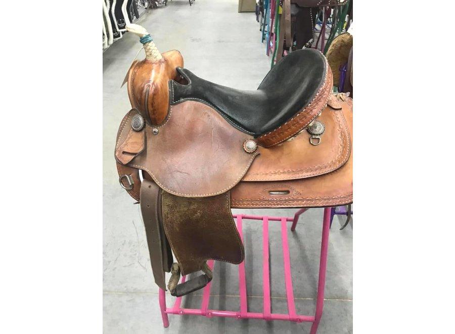 """14 1/2"""" Used Billy Shaw Barrel Saddle"""