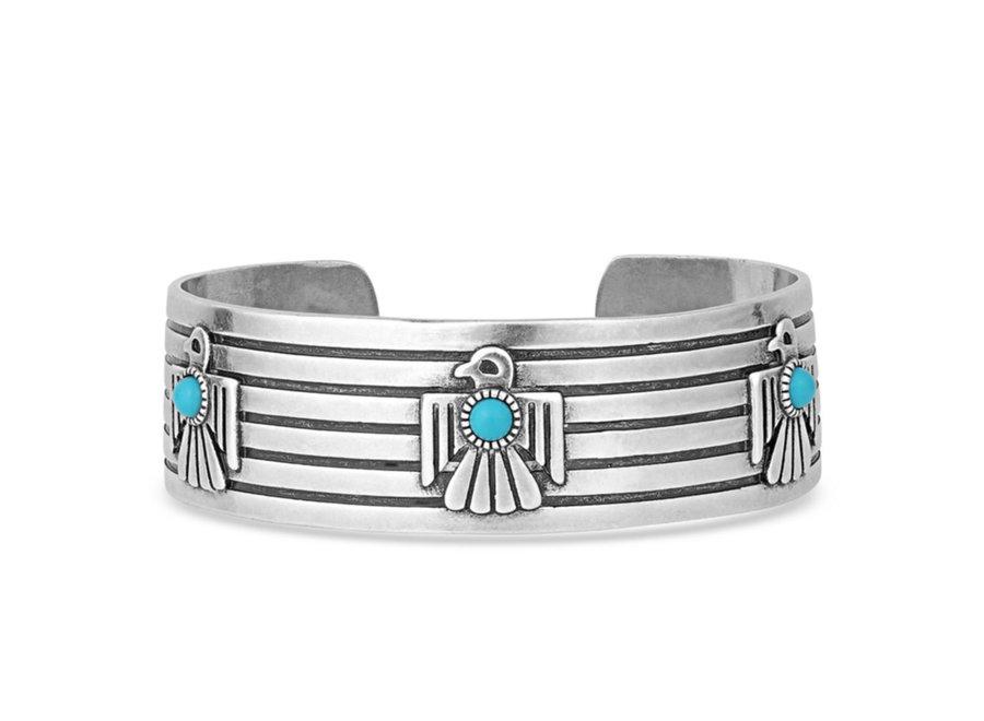 Rising Above Thunderbird Turquoise Bracelet