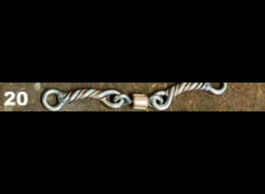 #20 SSmikey twist w/copper inlay dogbone roller