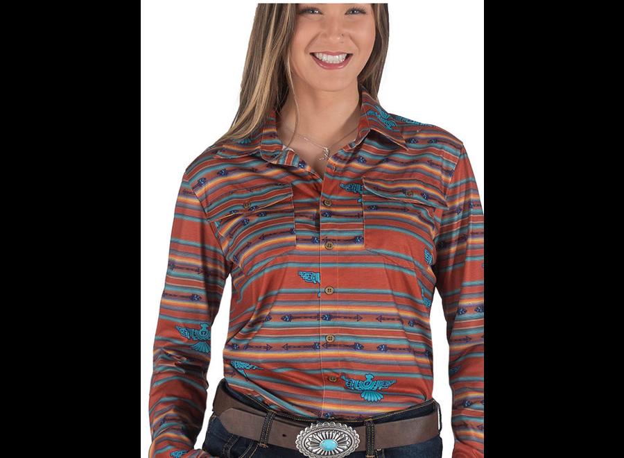 100432-Pullover Button-Up (thunderbird serape)