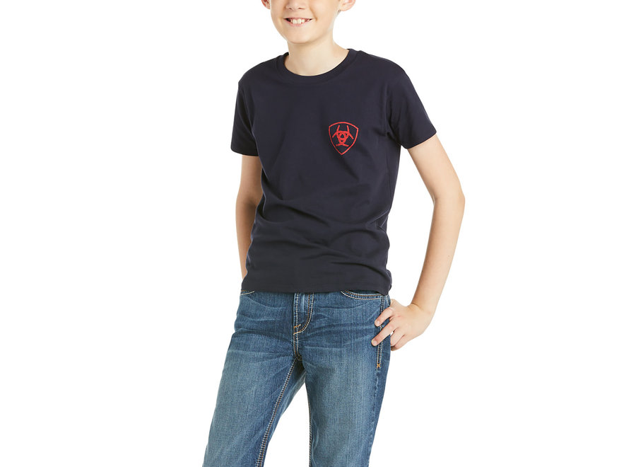 10035634 Ariat USA S/S t-shirt Navy
