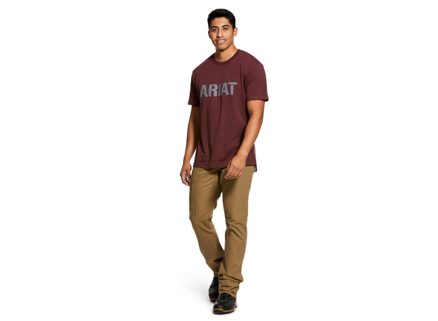 10030289 Rebar Burgundy Ariat T-shirt