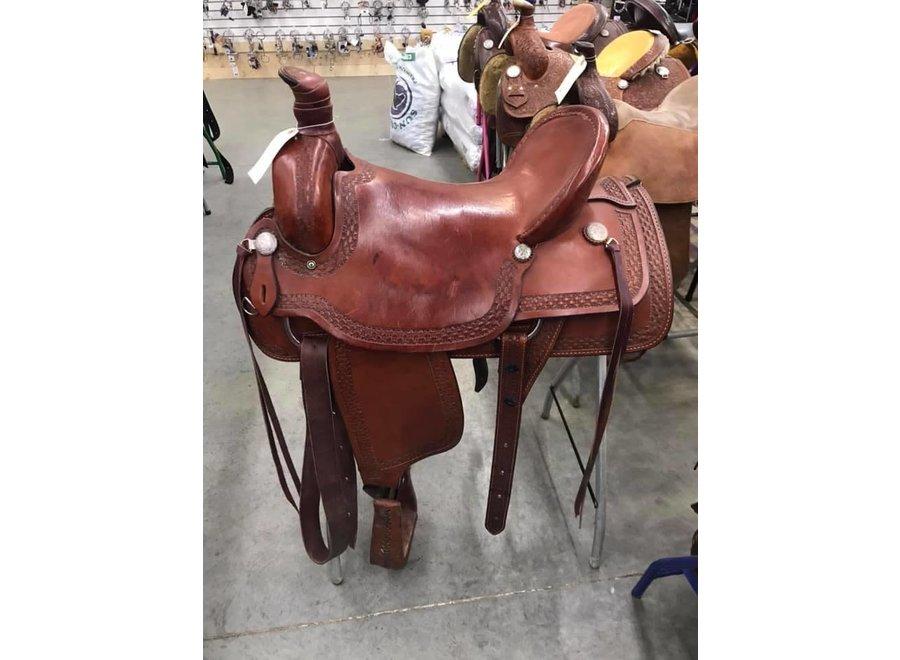 """17"""" Used Dakota Rope Saddle 7.5 Gullet"""