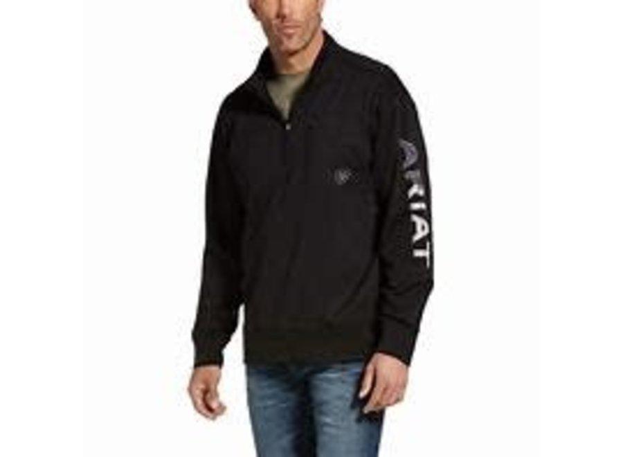 10032949 1/4Zip Black/American Sweatshirt
