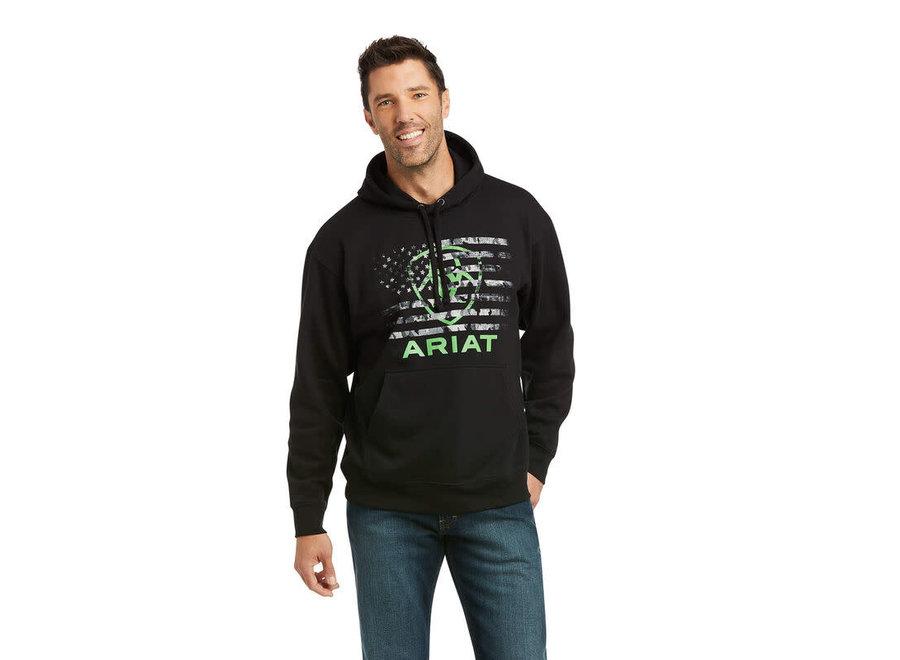 10037258 Black Flaggreen Arait Sweatshirt