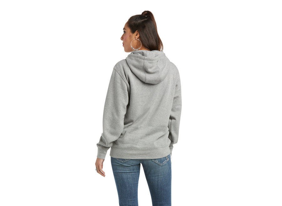 10037579 Real Gray Graphic Logo Hoodie