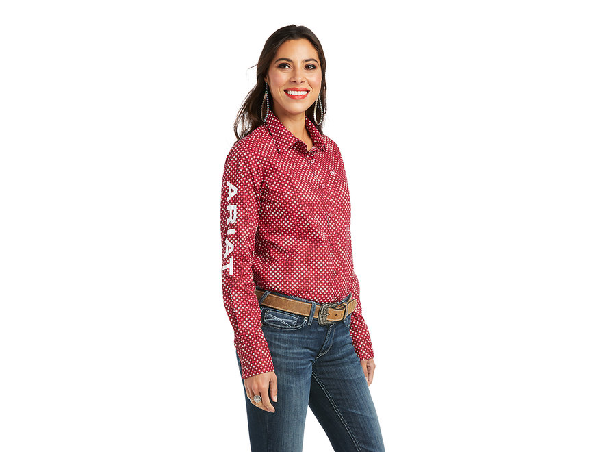 10037433 Red Kirby Longsleeve button down