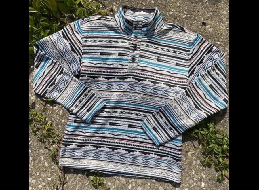 10037283 Westly Sweater Serape Dark Grey