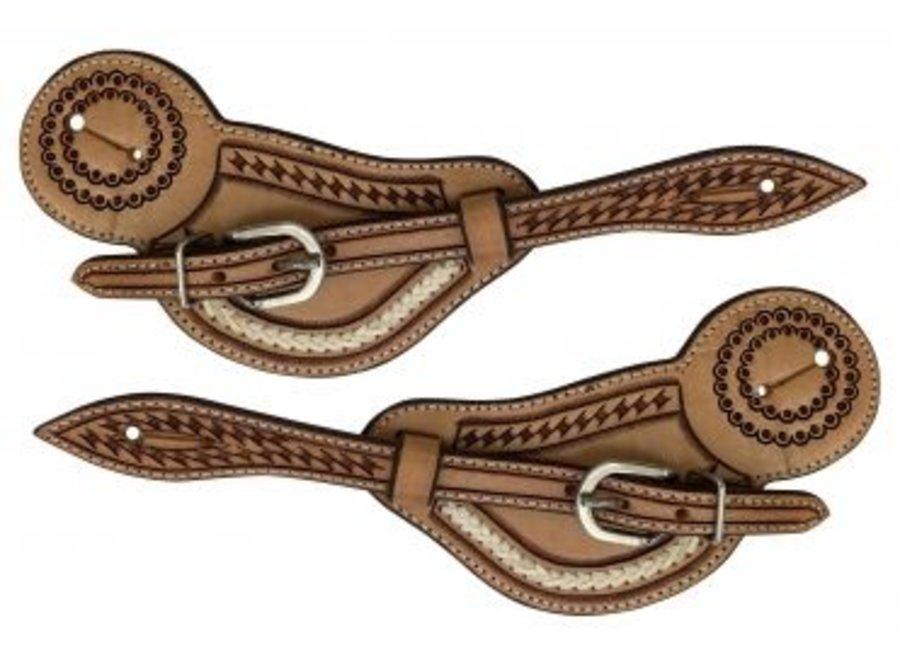 m-162 rawhide spur straps