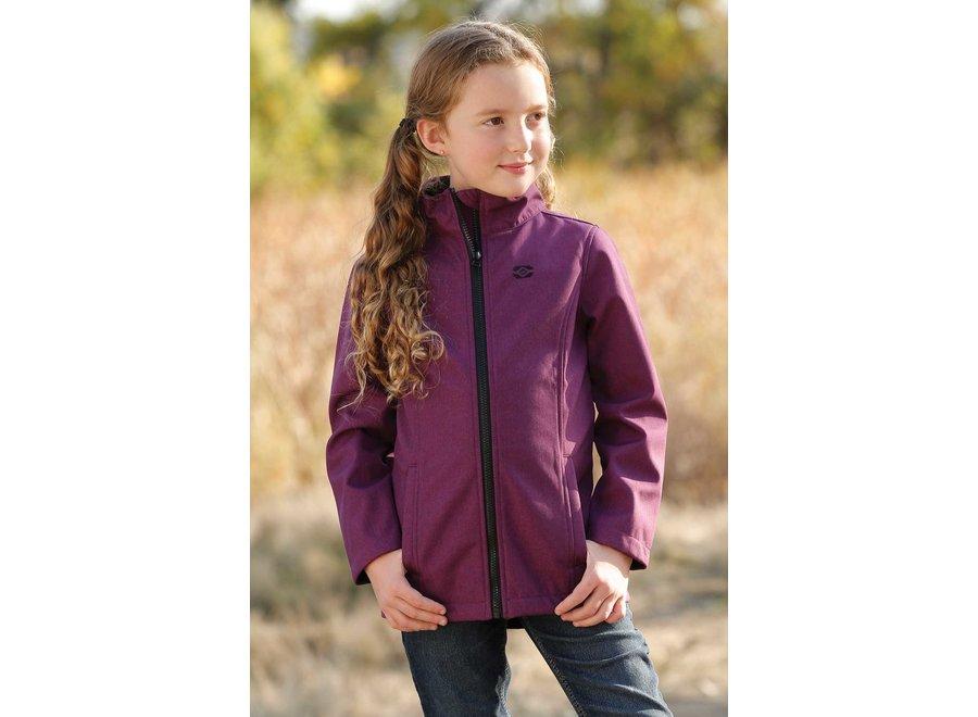 CWJ8580001 Girls purple bonded jacket
