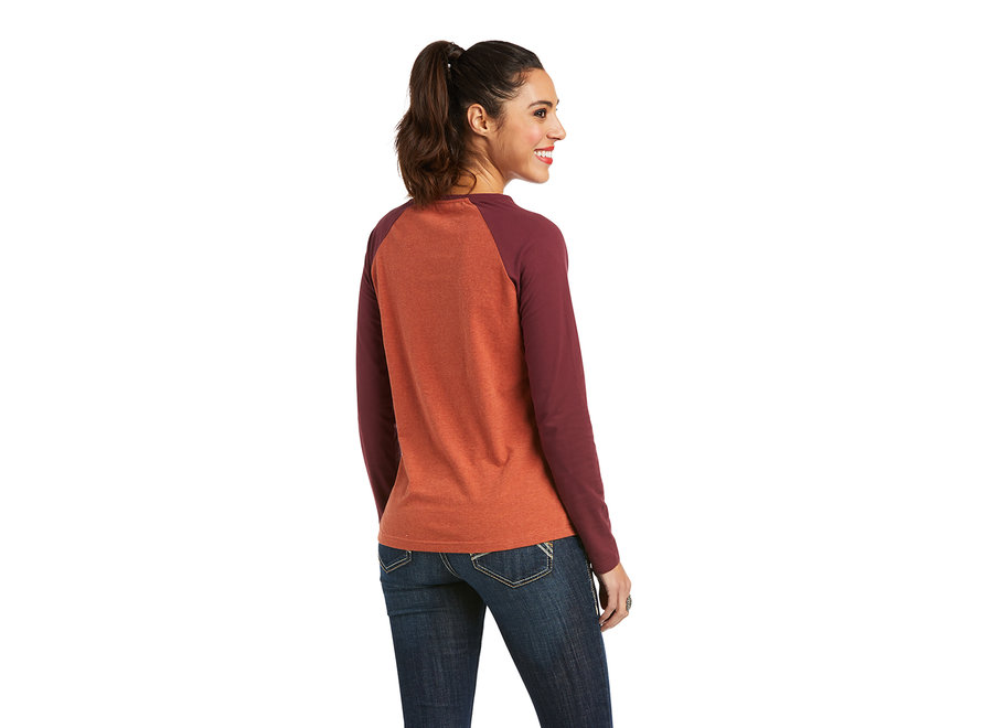 10037293 Baseball t-shirt orange&Maroon